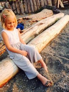 Finley at the beach WA